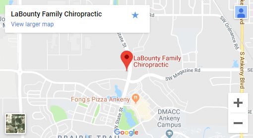 Map of Ankeny IA Chiropractors